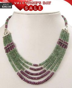 4mm-5mm Artisan Faceted Emerald and Ruby Gemstone #jewelry #necklace @EtsyMktgTool #diamondnecklace #beadswholesale #rubynecklace