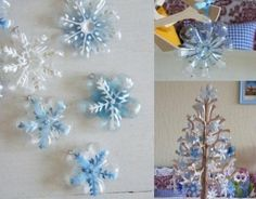 Christmas craft from plastic bottle