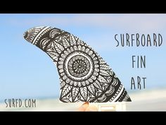 Surfboard Fin Art - Part 1: Painting with Posca Pens - YouTube