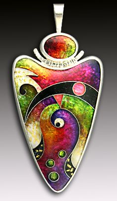 enamel jewelry and enamel instruction Jewelry Crafts, Jewelry Art, Jewelry Design, Jewellery, Enamel Jewelry, Metal Jewelry, Artisan Jewelry, Handmade Jewelry, Vitreous Enamel