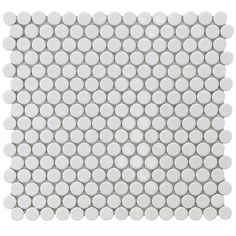 SomerTile 12.25x12-in Penny 3/4-in White Porcelain Mosaic Tile (Pack of 10) | Overstock.com Shopping - Big Discounts on Somertile Wall Tiles...