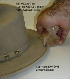 Groove Tolliker Hat Making Tool SHIPS IMMEDIATELY Pencil Curl Hat Brim  Shaper Curler d67796a51c6