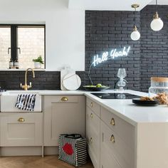 Kitchen. Designed by PLANSTUDIO (hello@planstudio.uk) Photography: Ideal Home