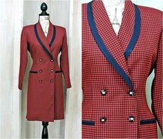 5867694c122 Vintage 80s Houndstooth dress size 7   8