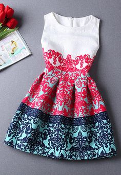 Printed Summer Mini Dress