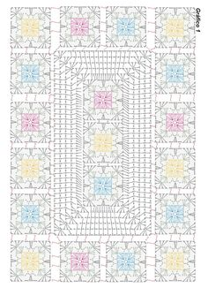 Crochet flower very easy tutorial – Artofit Beautiful granny square with p Crochet chart for two granny s This Pin was discovered by Dun Granny and other stitches