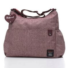 Babymel Big Slouchy Tweed Changing Bag - Aubergine - Binxie.com - £48.99