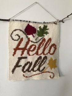 Hello Fall Wall Hanging Crochet PATTERN Fall Crochet Pattern   Etsy