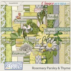 Rosemary Parsley and Thyme by Keystone Scraps