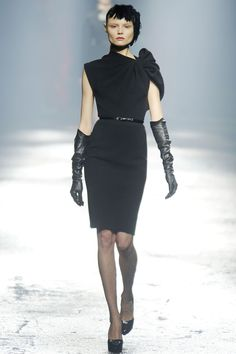 Wool jersey cocktail dress ~ Lanvin