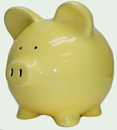 Yellow piggy bank