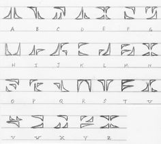 """A codex I'm very proud of. Based on cybernetic groves that you might see in the new """"Tron: Legacy"""" movie. I love that movie. ^^ Anyway, this alphabet has a cybernetic and mechanical background to i..."""