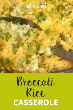 Broccoli Rice Casserole - - A creamy side dish that is baked in a delicious cheese sauce. This is the best broccoli rice casserole you will ever eat! Side Dish Recipes, Veggie Recipes, Vegetarian Recipes, Healthy Recipes, Recipes With Rice, Frozen Broccoli Recipes, Minute Rice Recipes, Riced Broccoli Recipes, Leftover Rice Recipes