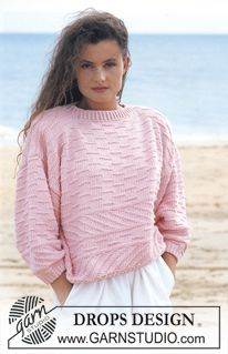 "DROPS jumper in ""Paris"" or ""Muskat"". Size S – L. ~ DROPS Design *FREE PATTERN*"