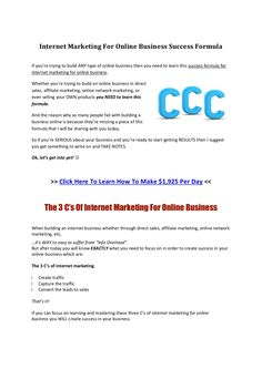Do you know the three step formula for success in your online business?