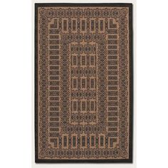 Recife Tamworth Cocoa/Black Outdoor Rug by Couristan