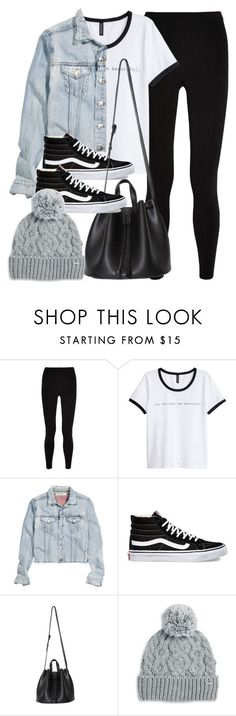 """Sin título #11864"" by vany-alvarado ❤ liked on Polyvore featuring T By Alexander Wang, H&M, Vans and Rella"