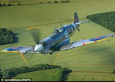 Beauty: Mk Vb Spitfire EP120 powered by a Rolls Royce Merlin. The plane was taken on by the RAF in May 1942 and assigned to 501 squadron. She scored six of her seven confirmed kills with Sqn Ldr Geoffrey Northcott at the helm