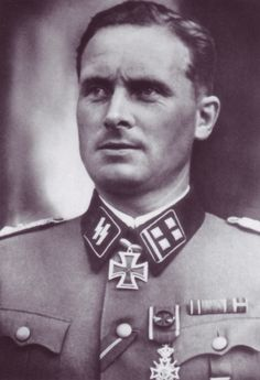 """Theodor Wisch (shown here in the rank of Obersturmbannführer) received his Knight's Cross as a Sturmbannführer on 15.9.1941, while commanding the II.Battalion (mot) SS-Motorisiert-Brigade """"LAH"""" of the 1.SS-Division LAH."""