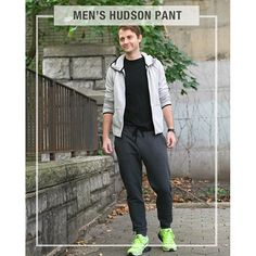 True Bias Men's Hudson Pants Sewing Pattern - The Men's Hudson pant is a modern sweatpant that is comfortable enough to wear around the house, but can easily be dressed up for around town. The urban fit of these pants leaves a bit of extra room around the hips, has a slightly dropped crotch, and then tapers into a skinnier leg. It has an elastic waist with a drawstring, front pockets, and a cuff at the ankle. This saves you time and frustration. You can make this in one sitting!  This is…