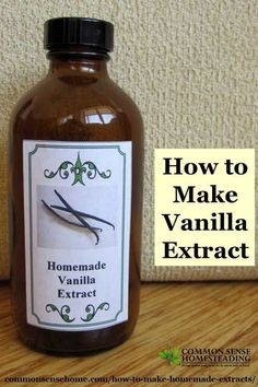 How to Make Homemade Extracts - Vanilla, Lemon and Almond Homemade Spices, Homemade Seasonings, How To Make Homemade, Food To Make, Vanilla Extract Recipe, Spice Mixes, Food Hacks, Food Tips, Food Ideas