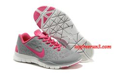 #topfreerun3 com Save Up To 68%,$48.83 Womens Nike Free TR Fit 3 Breathe Grey Pink Training Shoes