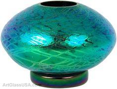 stuart abelman glass | Stuart Abelman: Iridescent Ikebana bowl