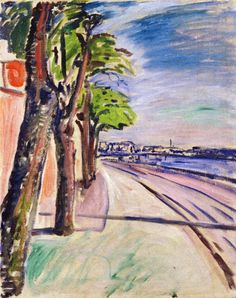 Trees by the Canal.1908 by Edvard Munch