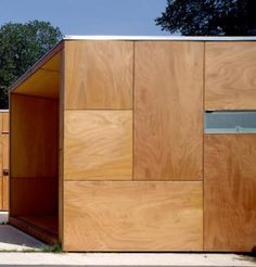 plywood as cladding - Yahoo Search Results Image Search results Outdoor Plywood, Plywood House, Plywood Siding, House Cladding, Timber Cladding, Wood Architecture, Architecture Details, Exterior Wood Siding Panels, Modern