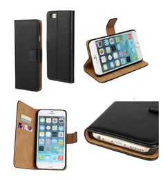 Genuine Hand Made Leather Luxury Wallet Flip Case Stand Cover for iphone 6