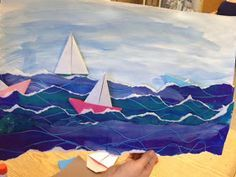 I use this project to show the kids the work of Winslow Homer. The more I study his realistic oil paintings, the more I appreciate both his talent and dedication to the subject of the sea.
