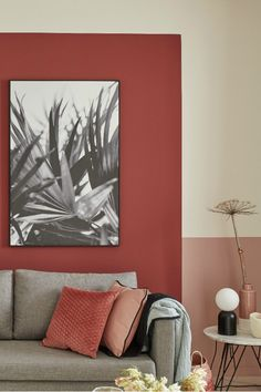 To showcase the volume of a room. In association. The allows you to create moods ultra-custom. In the classic version revisited. Living Room Red, Living Room Colors, Living Room Decor, Paint Colors For Home, House Colors, Wall Art Designs, Wall Design, Design Design, Pastel Home Decor