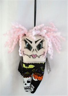 Mini Monster Halloween Vampire Zombie Voodoo Doll - Ornament Mini Monster, Monster Dolls, Painted Gourds, Halloween Vampire, Halloween Ornaments, Voodoo Dolls, Recycled Jewelry, Artist Trading Cards, Having A Bad Day