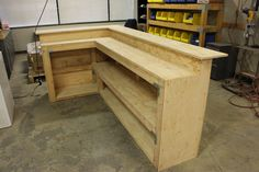 DIY bar using Simpson Strong-Tie products.