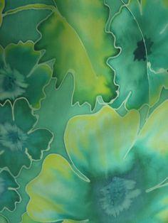 Hand painted silk scarf. Handpainted silk scarf. by StIvesSilkArt