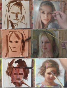 油絵で肖像画の描き方がわかるYuehua Heさんのペインティングの一部始終【動画】 _ makings.jp