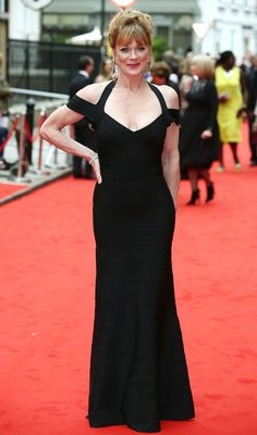 The A-listers have certainly been favouring monochrome outfits recently, with a variety of celebrities walking the red carpet wearing black and white. Samantha Bond, Red Carpet 2016, Emily Blunt, Halle Berry, Red Carpet Fashion, Wearing Black, Outfit Of The Day, Stylists, Actresses