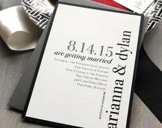Invitaciones de boda invitación de la boda blanco y por BeaconLane