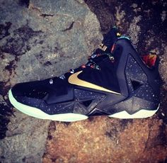 The Infamous Nike Lebron 11 'Watch The Throne' Shoe is Bold #lebron #shoes trendhunter.com