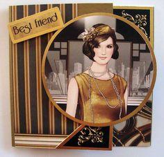 gold - clintons art deco ladies - Google Search