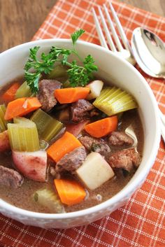 The Best (Low-FODMAP) Slow Cooker Beef Stew Ever  /  Delicious as it Looks