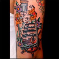 steady as she goes. Done by Tracy Martino at Sanctity Tattoo in Tucson, Arizona, USA.