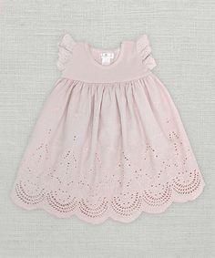 Look at this #zulilyfind! Pale Mauve Eyelet Dress - Infant #zulilyfinds