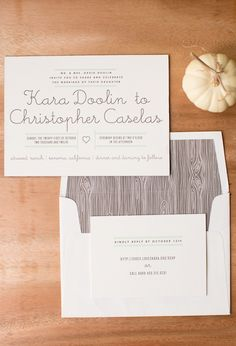 We printed these invitations (featuring our Gotham design by Erin Jang) for this Atwood Ranch wedding