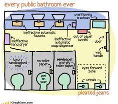Every public bathroom ever.