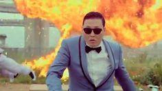 Psy: 'Gangnam Style' - via Curly Hair with Bangs Curly Hair With Bangs, Curly Hair Styles, Most Viewed Youtube Videos, Psy Gangnam Style, All Pop, Big Music, Korean Star, Pop Songs, Gurren Lagann