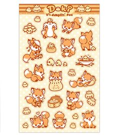 Doki Fox Sticker Sheet