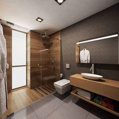 Stunning Plywood Bathroom Wall Design Ideas Modern House - Page 11 of 21 - Bathroom Ideas Bathroom Layout, Modern Bathroom Design, Bathroom Interior Design, Bathroom Wall, Master Bathroom, Bathroom Ideas, Bathroom Designs, Remodel Bathroom, Bathroom Organization