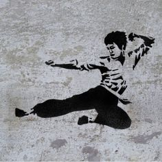 This Bruce Lee Kung Fu Master reusable STENCIL is amazing decoration for anyone who loves kung Fu and other Martial Arts Arte Bruce Lee, Bruce Lee Kung Fu, Harpy Eagle, Famous Faces, Wall Art, Wall Decor, Stencils, Clip Art, Punch