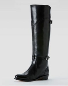 Dorado Polished Leather Riding Boot by Frye at Neiman Marcus.